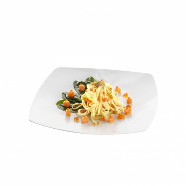 Linguine au saumon et oseille fraîche