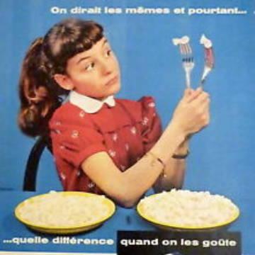 La marque Lustucru - Affiche publicitaire vintage
