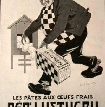 La marque Lustucru - Affiche publicitaire vintage - Per'Lustucru