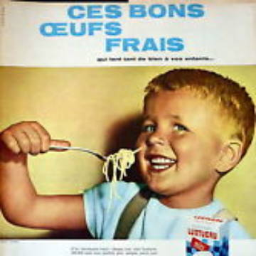 La marque Lustucru - Affiche publicitaire vintage - Ces bons oeufs frais