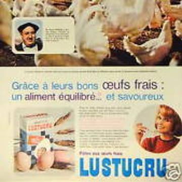 La marque Lustucru - Affiche publicitaire vintage - Equilibré et savoureux