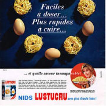 La marque Lustucru - Affiche publicitaire vintage - Faciles à doser, rapide à cuire