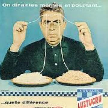La marque Lustucru - Affiche publicitaire vintage - Quelle différence