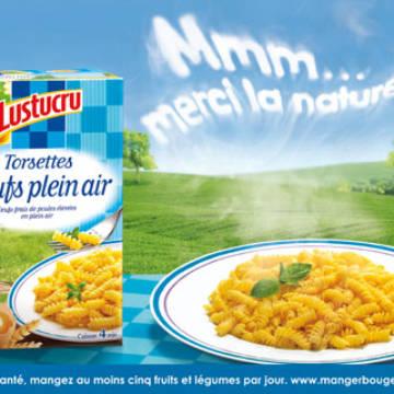La marque Lustucru - Affiche publicitaire - Merci-la-nature