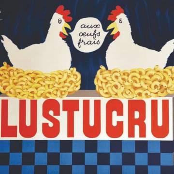 La marque Lustucru - Illustration vintage - Les poules ©Jacques-Charmoz