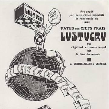 La marque Lustucru - publicité vintage - Pâtes aux oeufs frais