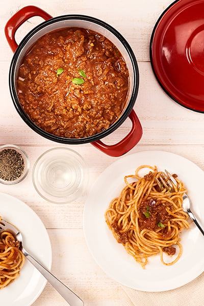 Spaghetti à la bolognaise maison
