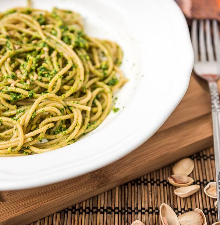 Torsettes gorgonzola et pistaches